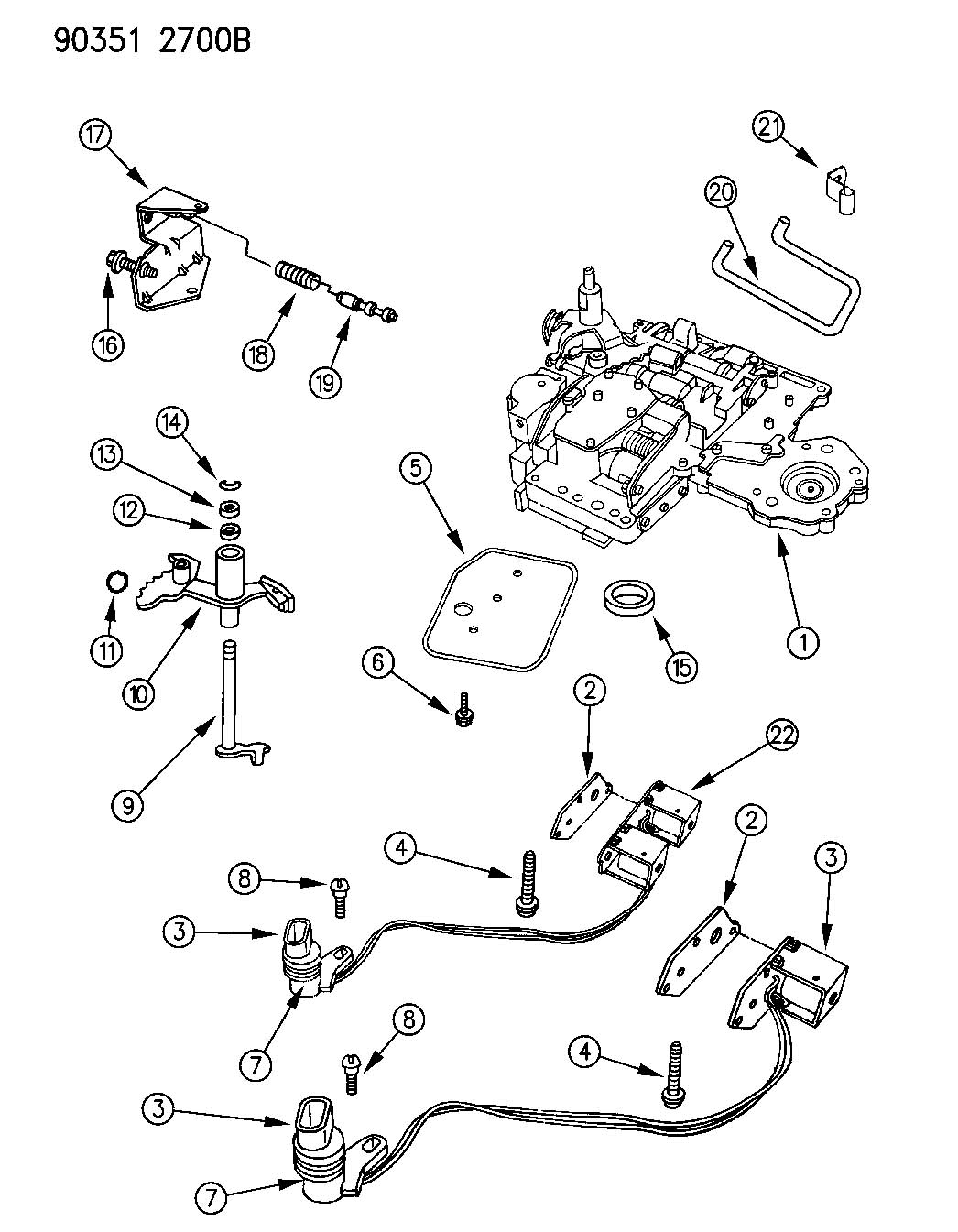 dodge 518 transmission diagram