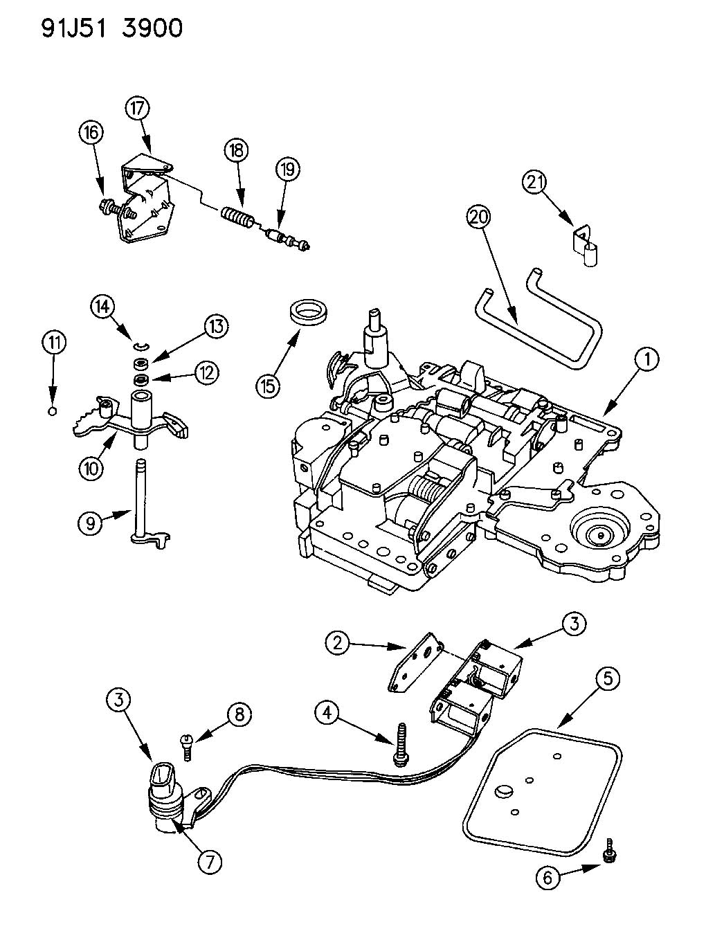 1993 jeep grand cherokee valve body automatic transmission ... jeep transmission schematic