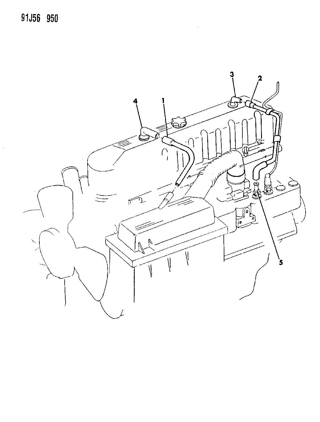 crankcase ventilation 4 0l engine
