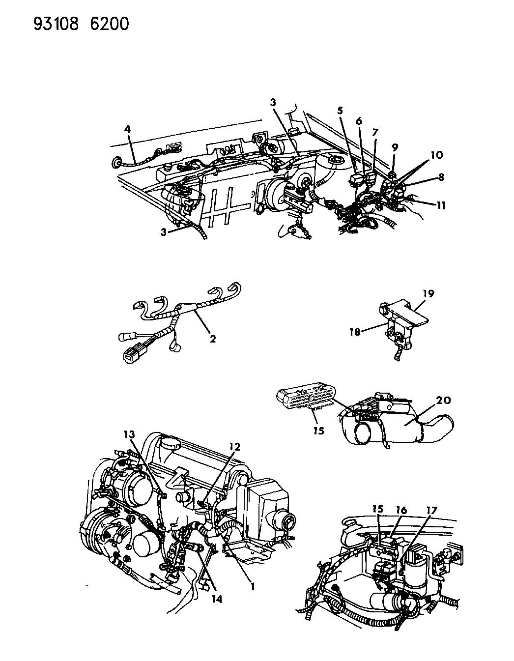 1993 chrysler lebaron wiring--engine & related parts a body 1994 chrysler lebaron wiring diagram