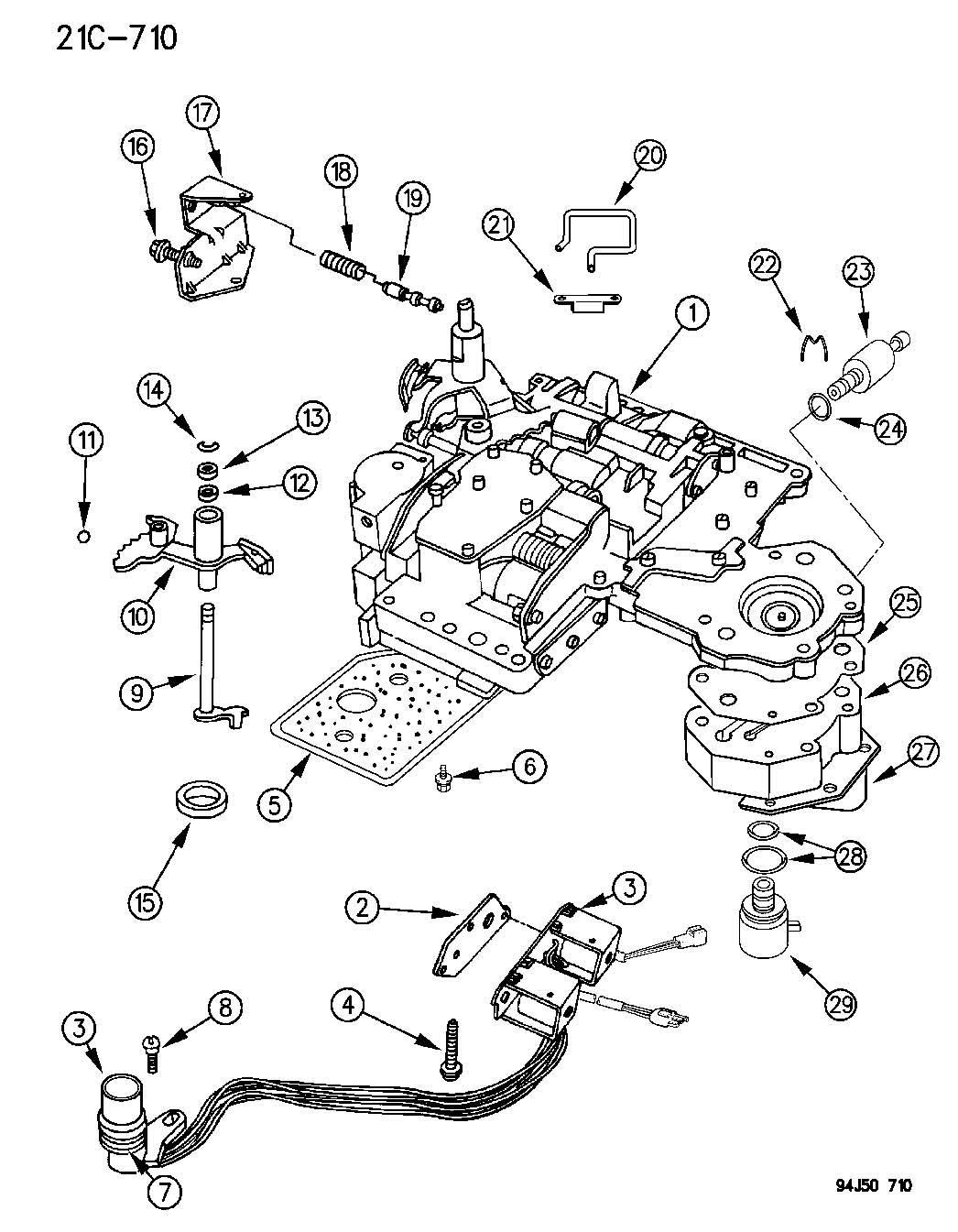 1994 Jeep Grand Cherokee VALVE BODY AUTOMATIC TRANSMISSION ...
