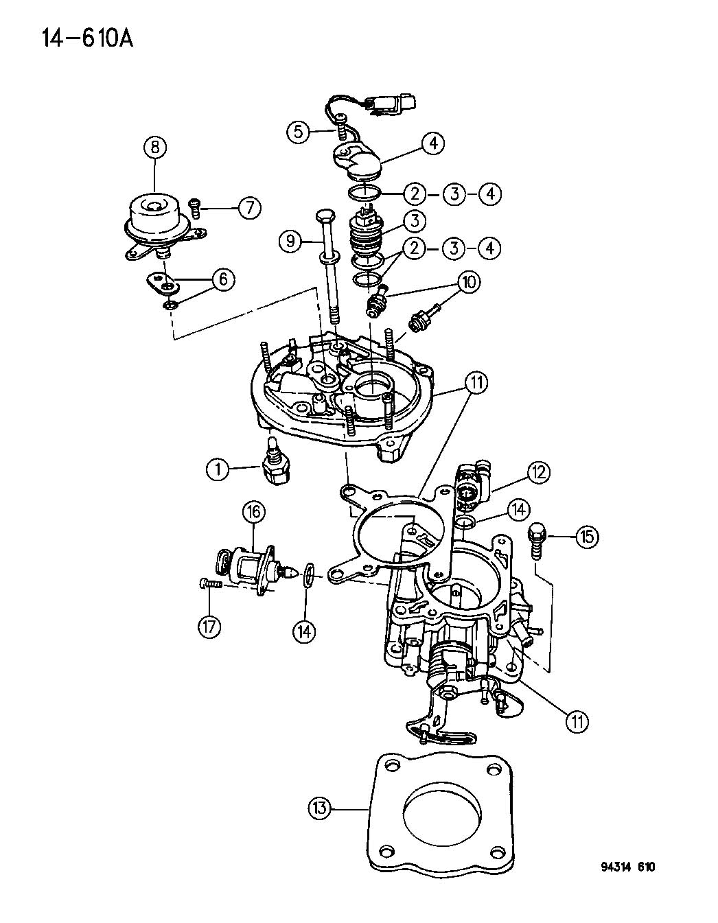 1995 dodge dakota throttle body 2 5 engine n body