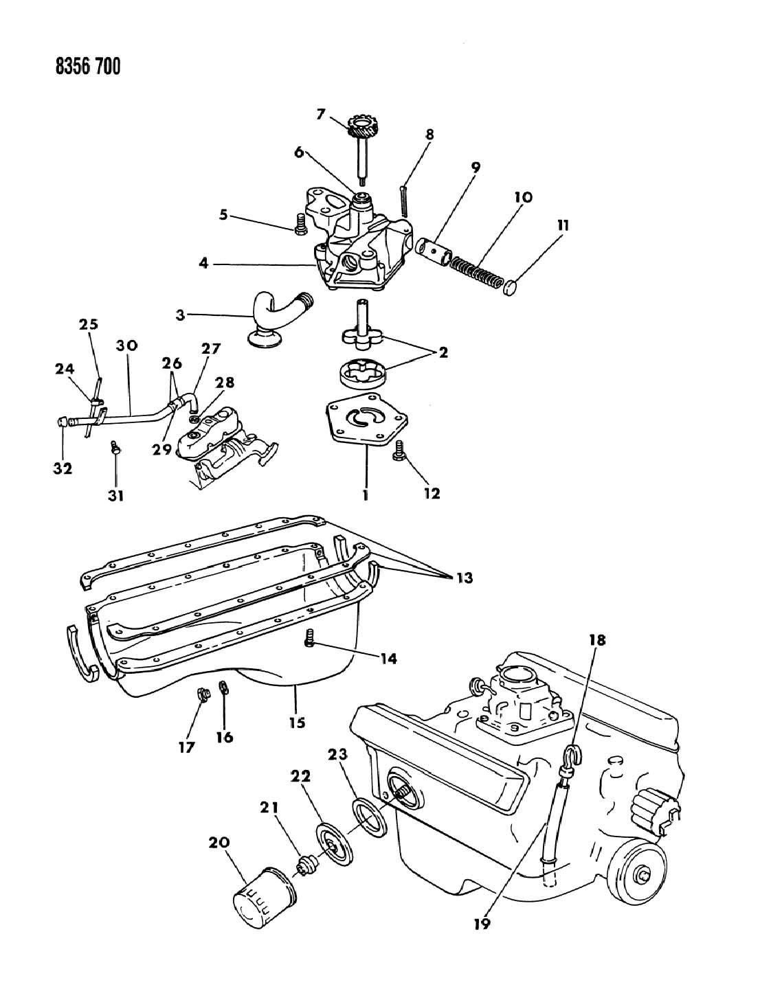 1988 dodge dakota engine oiling 3 9l engine