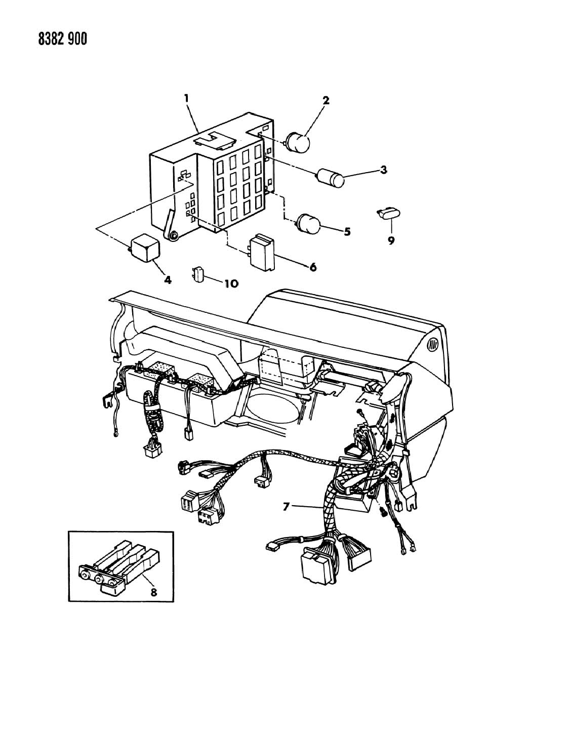 1989 dodge dakota instrument panel wiring n body