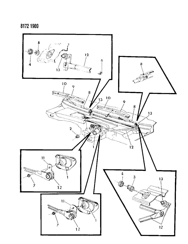 windshield wiper system m body