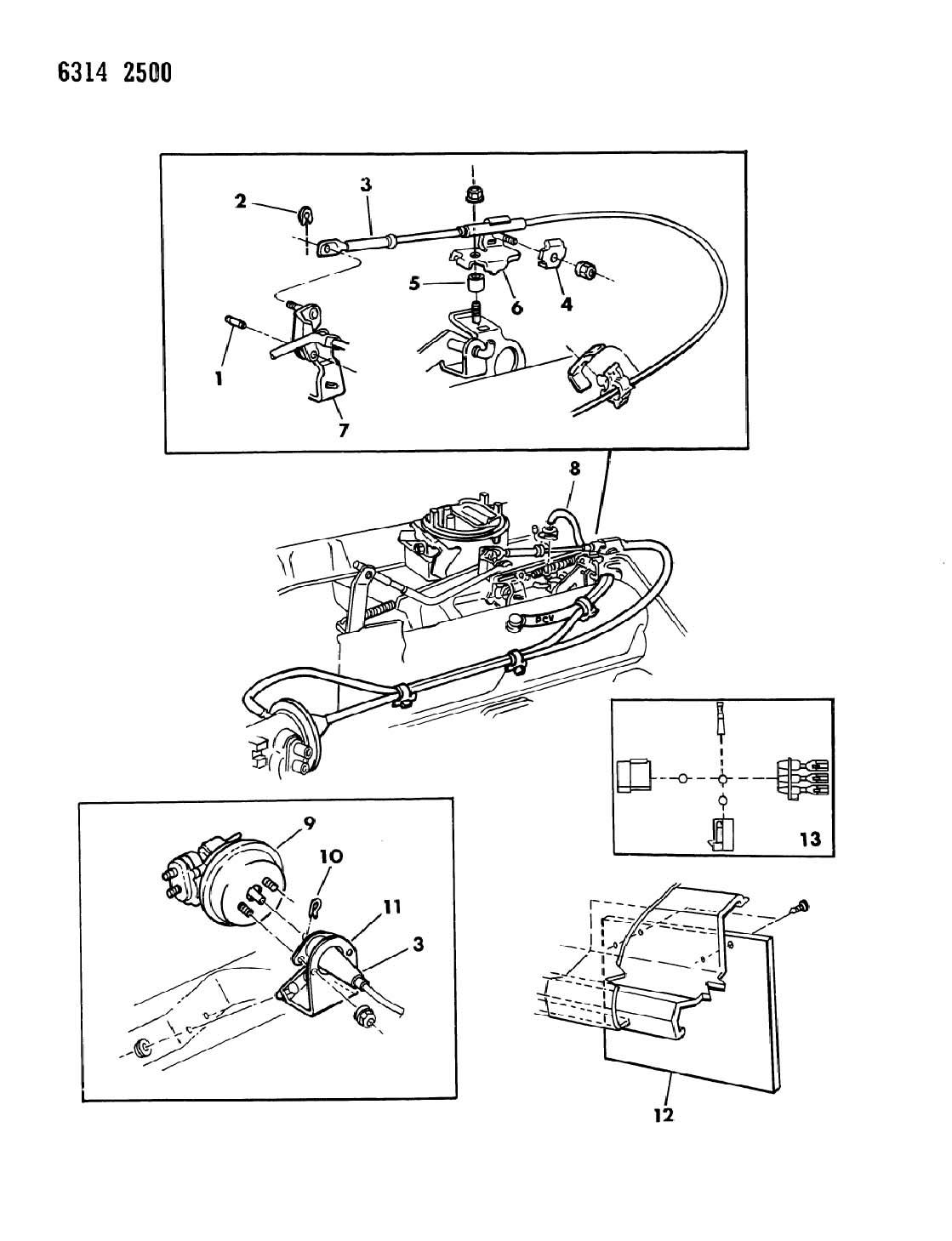 1987 dodge ram van ram wagon speed control 318 and 360