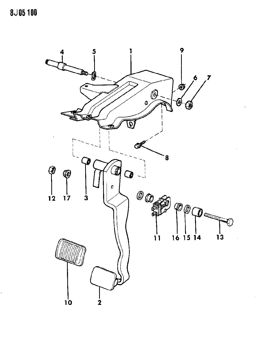 1987 Jeep Wrangler Pedal Brake Yj Auto Electrical Wiring