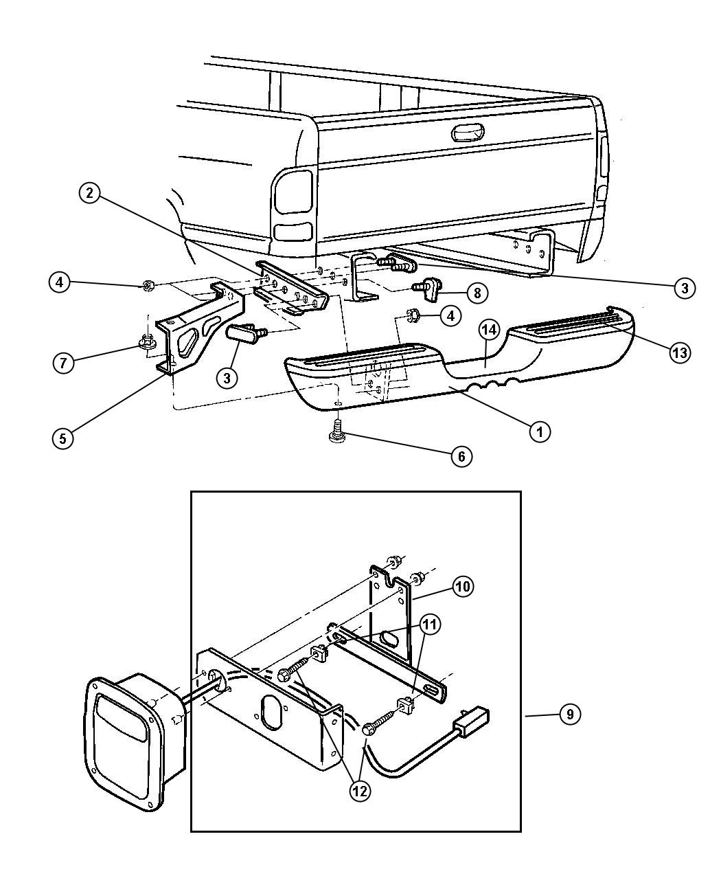 1999 dodge ram 1500 bumper  rear