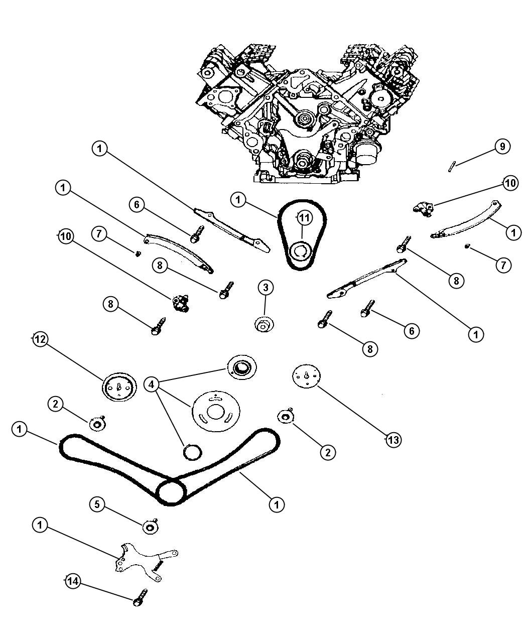 2000 dodge durango timing chain and guides