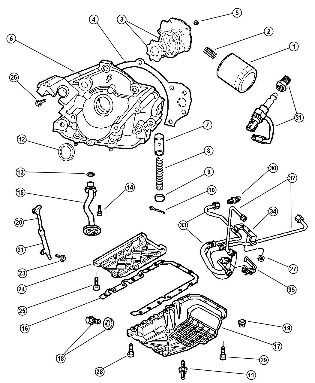 2001 dodge intrepid engine oiling 3 2l engine. Black Bedroom Furniture Sets. Home Design Ideas