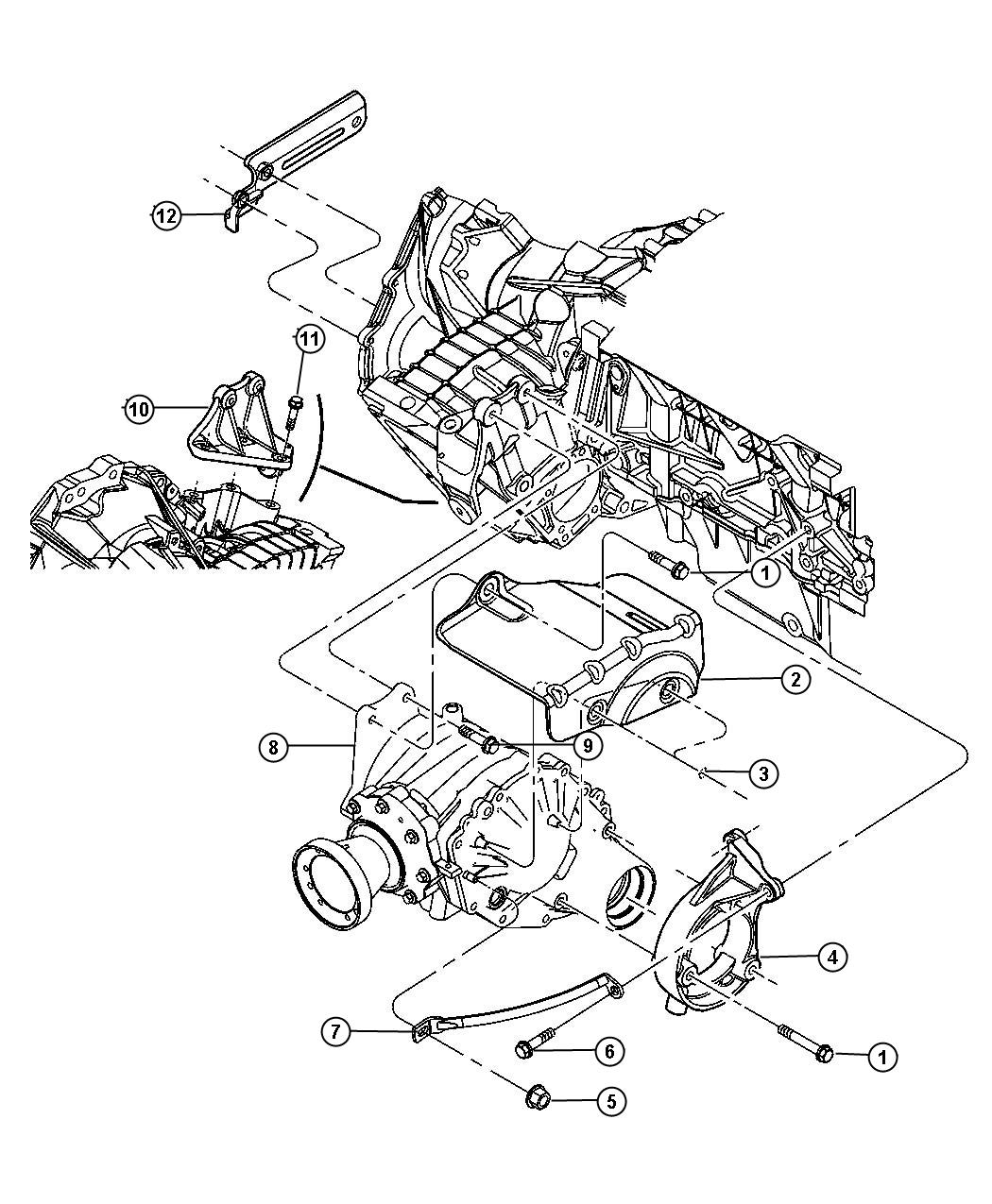 2004 chrysler pacifica motor mount diagram