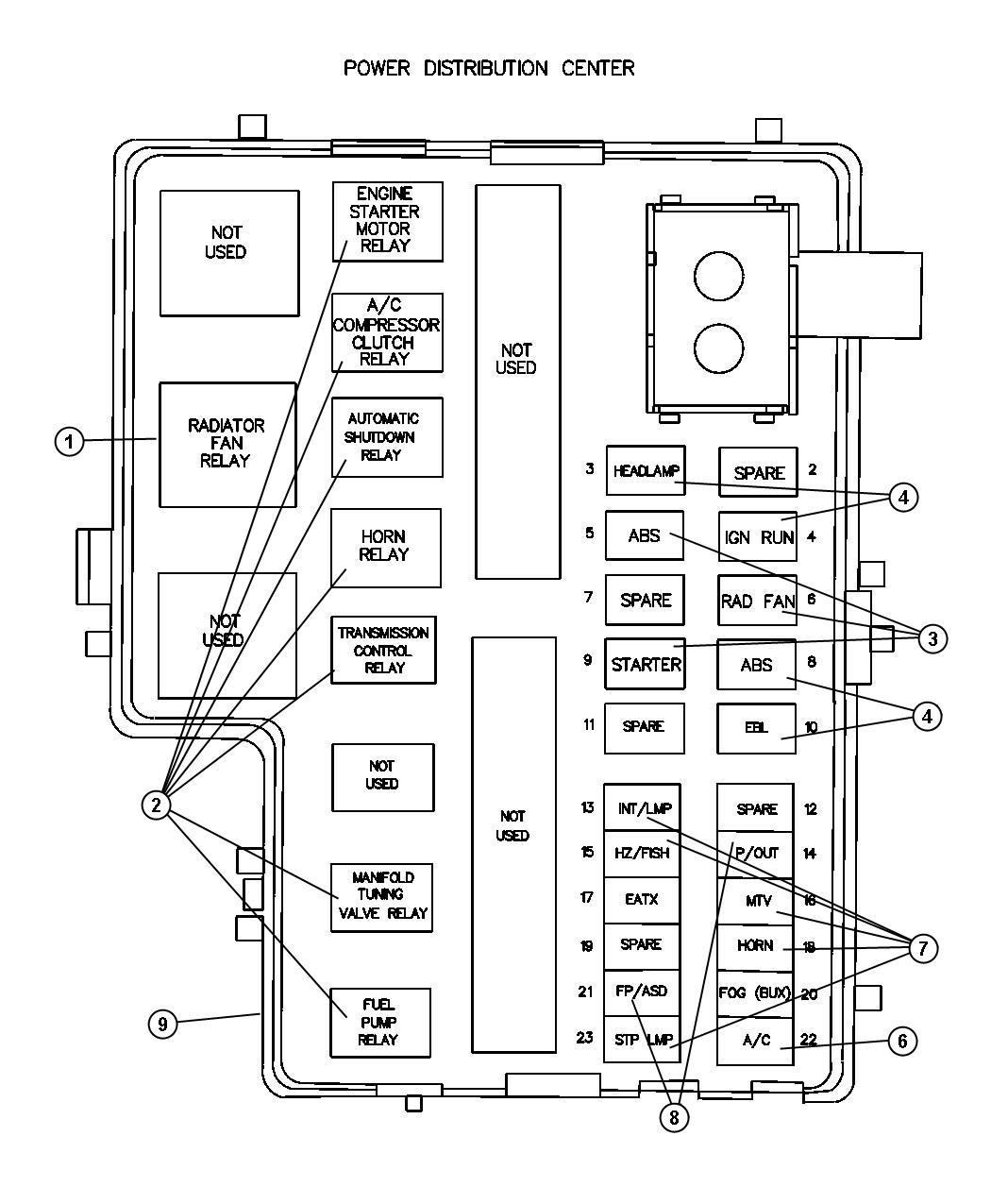 Showassembly on 1998 dodge ram 1500 fuse diagram