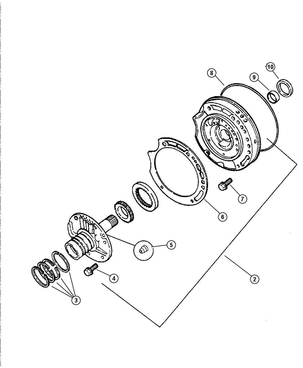 2004 jeep wrangler oil pump  u0026 reaction shaft