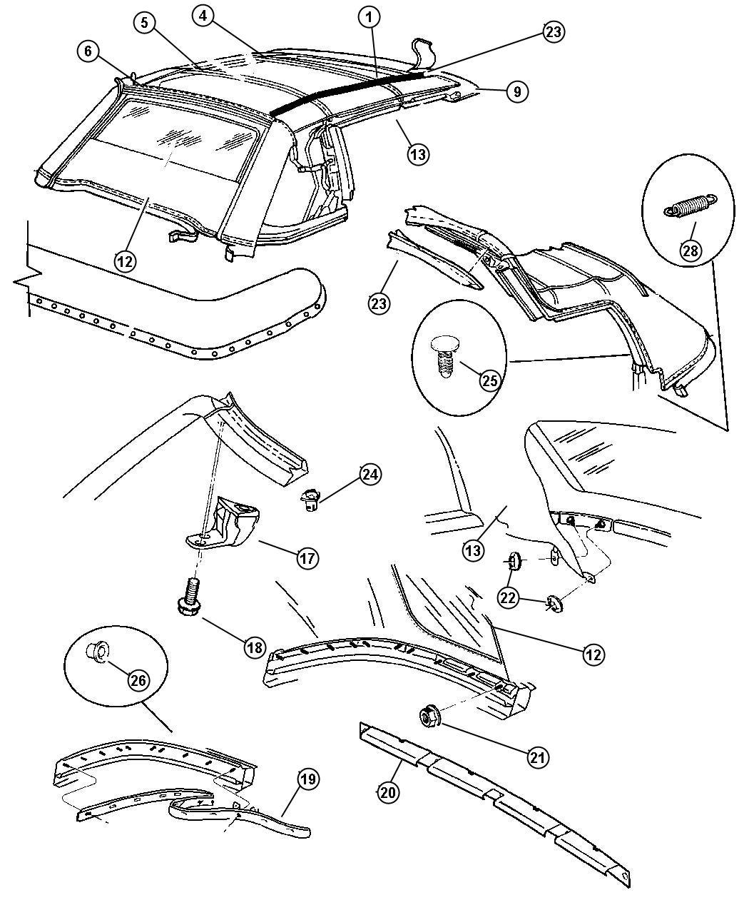 1997 chrysler sebring convertible wiring diagrams chrysler
