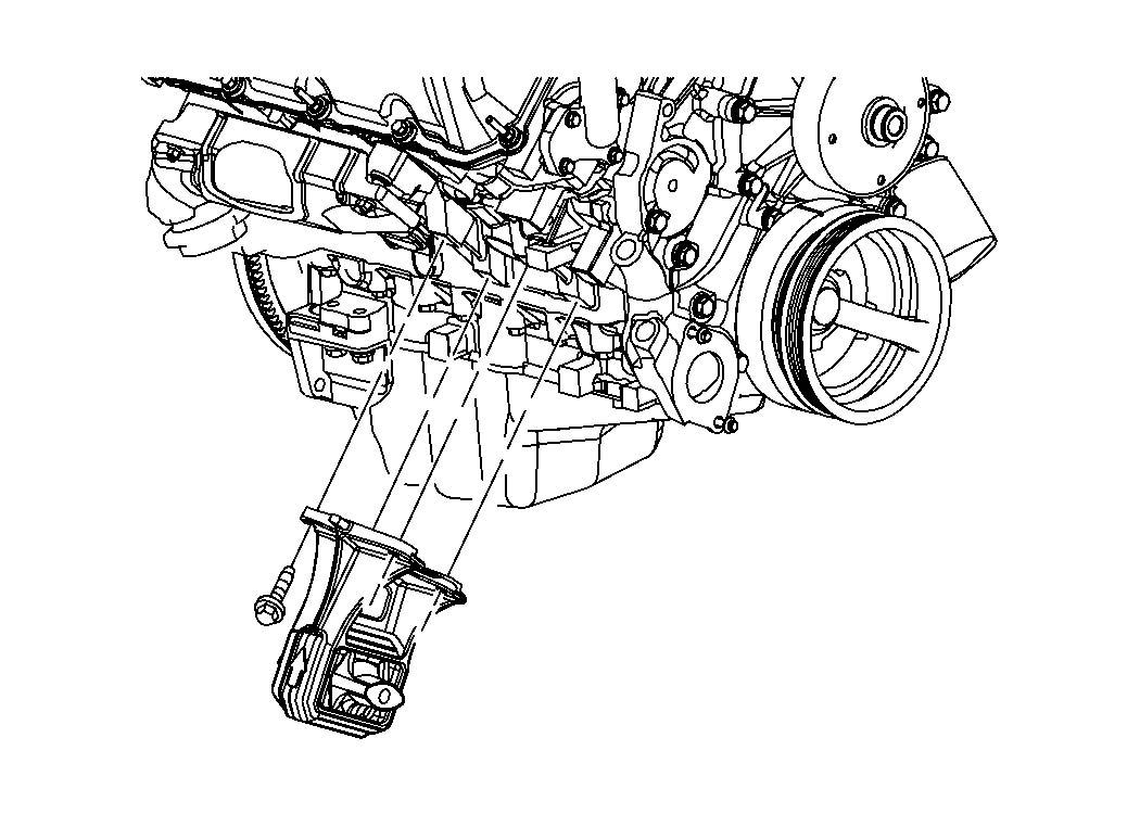 2009 chrysler pt cruiser engine mounting