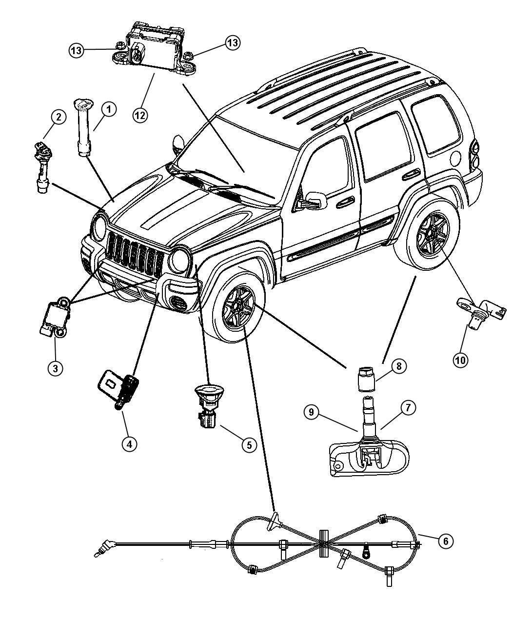 dodge ram tire pressure sensor
