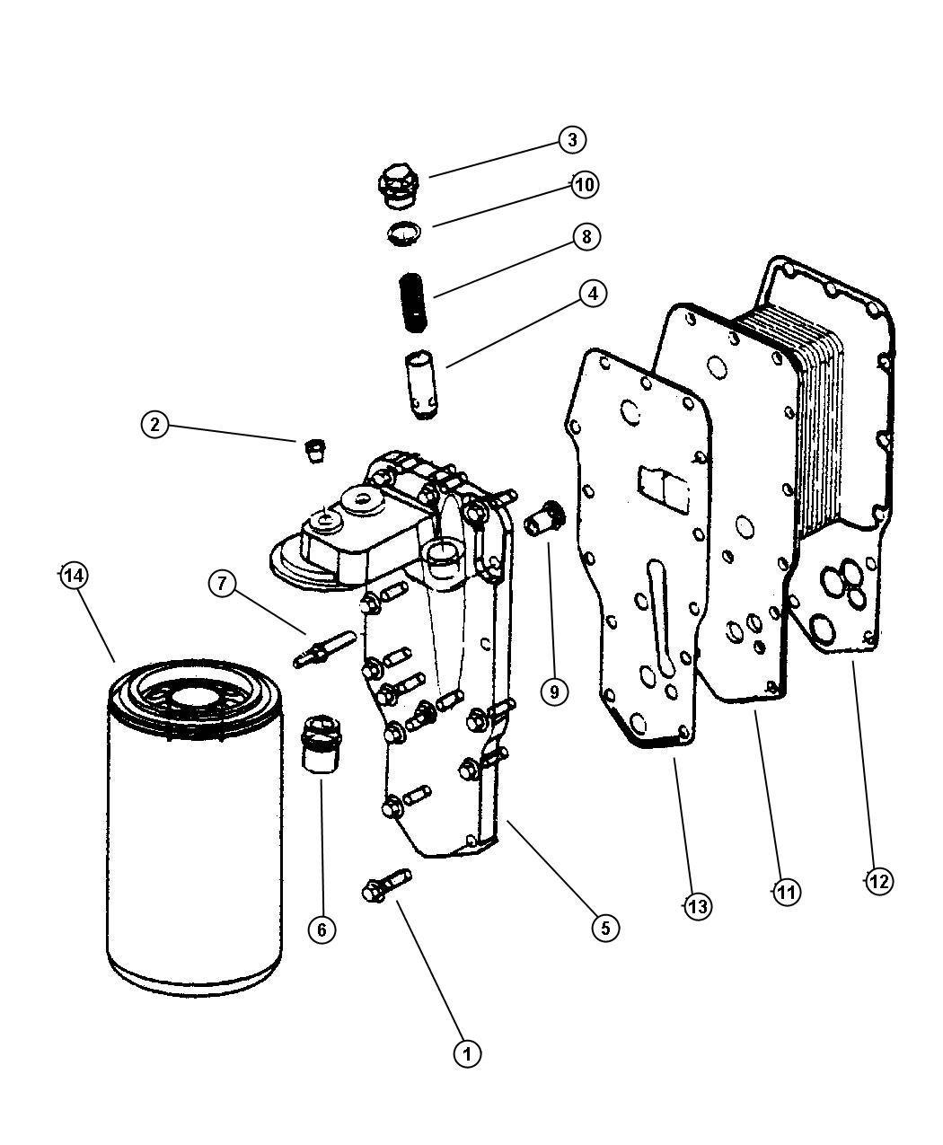 1998 dodge ram 3500 engine oil cooler
