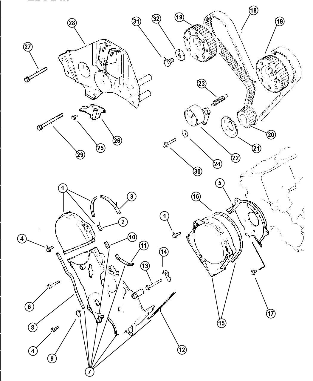 service manual  1998 plymouth grand voyager timing cover
