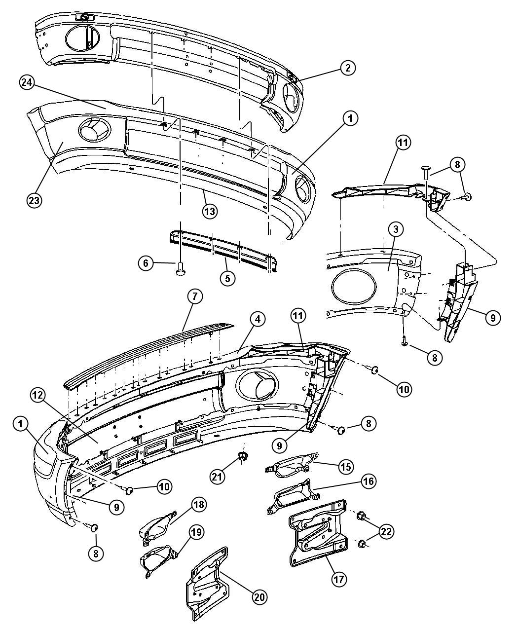 Dodge Ram Bumper Diagram on bugatti engine diagram