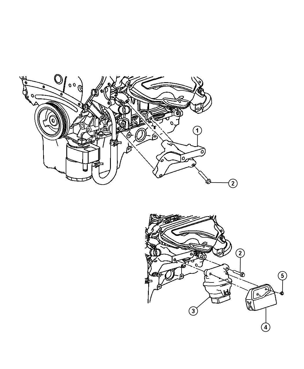 2006 Chrysler 300 Cylinder Head: Dodge Charger Engine Mounting Left Side AWD/4WD 3.5L [EGG]