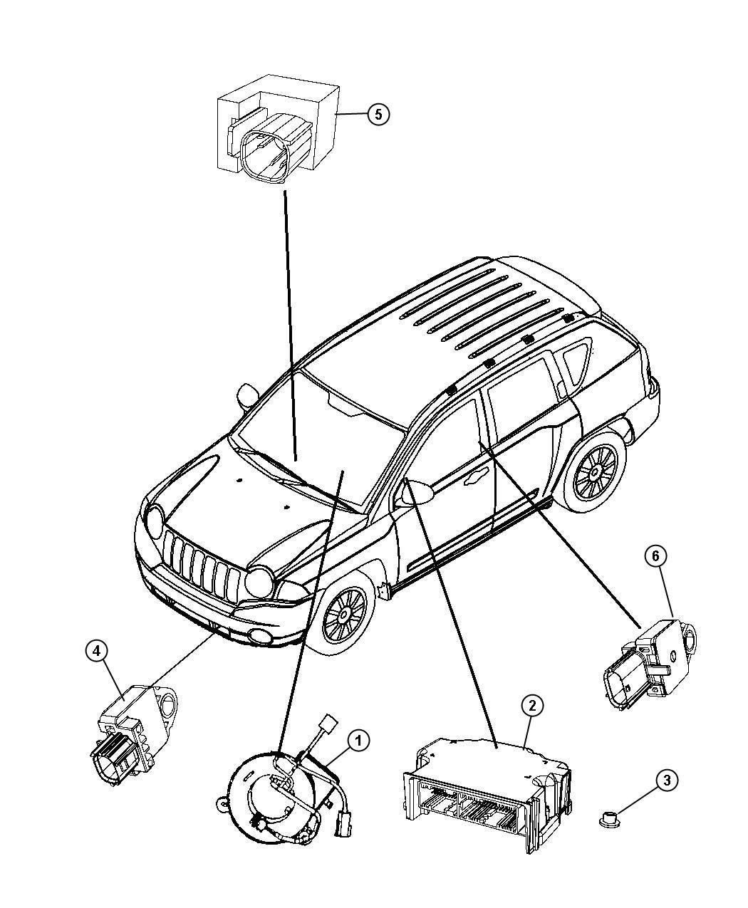 service manual  replace 2011 dodge caliber air bag module