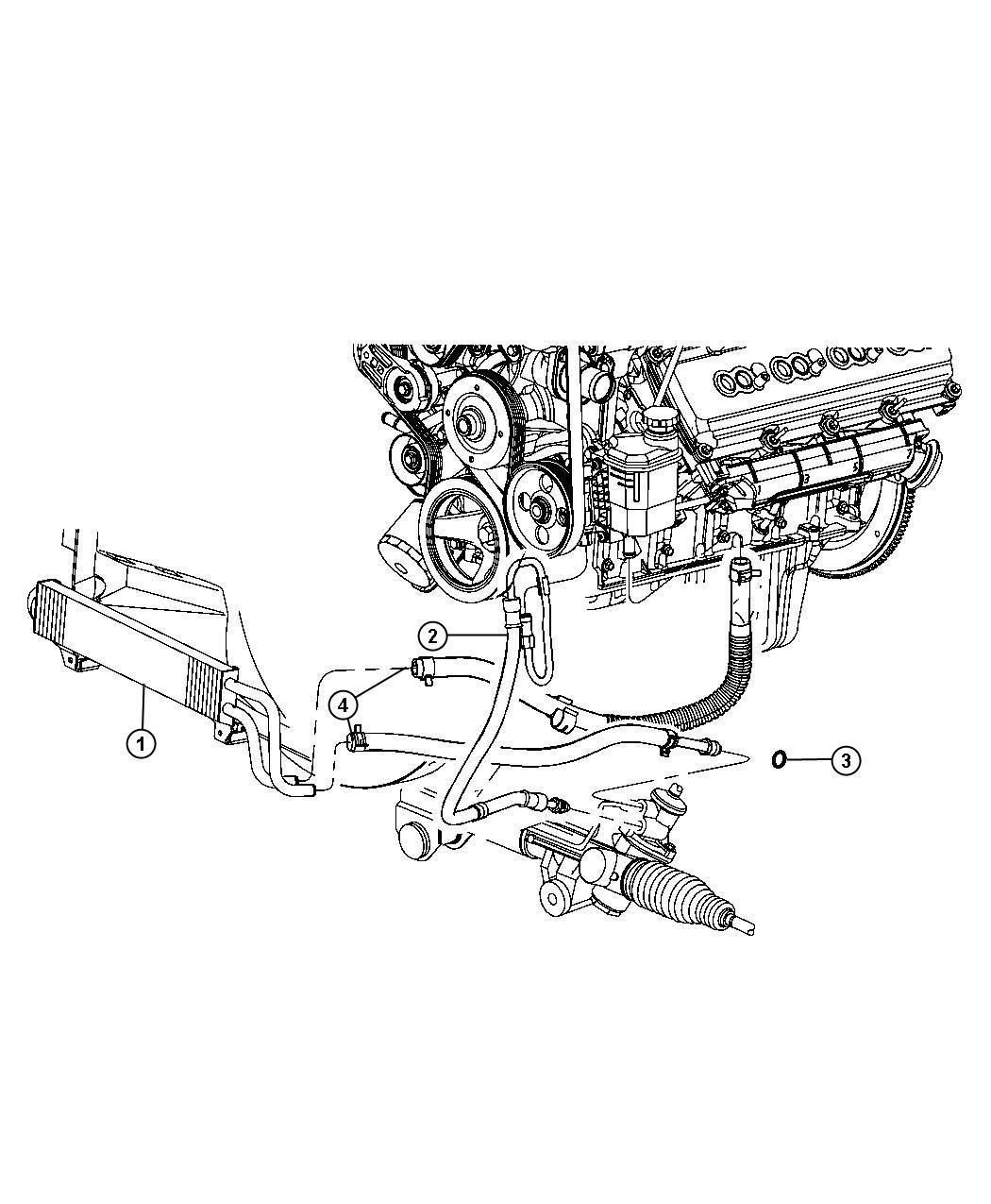 2012 dodge ram 1500 hose  power steering